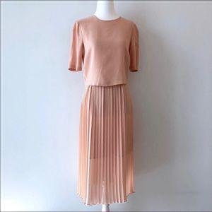 Pink pleated skirt | Dress